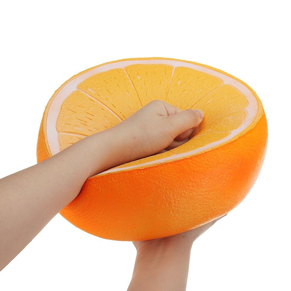 Énorme Orange Squishyed Jouet 9.84in 25*25*14 cm Lente Hausse de Bande Dessinée Cadeau De Noël Collection Souple Squishying Jouets pour Childern Enfant