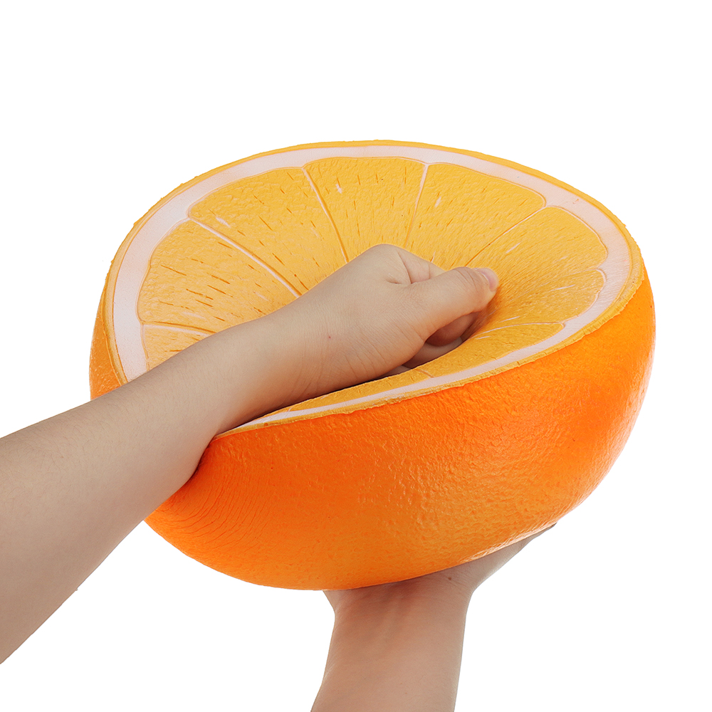 Huge Orange Squishyed Toy 9.84in 25*25*14CM Slow Rising Cartoon Christmas Gift Collection Soft Squishying Toys For Childern Kid