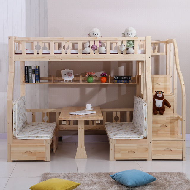 Free Shipping Children S Bed Wood Bed Children S Bunk Bed With
