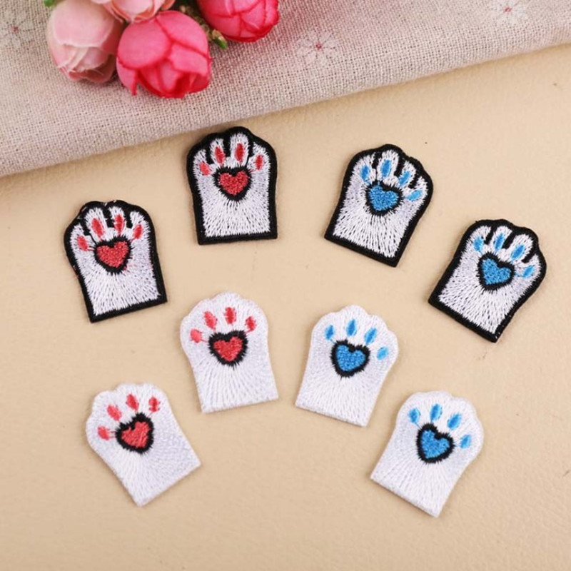 Animal Love Claw Embroidered Iron On Patches For DIY Cloth Patch Fashion Design Motif Applique Badge in Patches from Home Garden