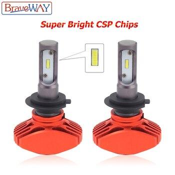 BraveWay Super Brgiht CSP Chip H11 LED H7 Car Light H8 H9 Led Bulb HB3 HB4 9005 9006 H4 Headlights for Automobiles Cars 12V Lamp 1