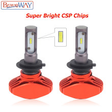 BraveWay Super Brgiht CSP Chip H11 LED H7 Car Light H8 H9 Led Bulb HB3 HB4 9005 9006 H4 Headlights for Automobiles Cars 12V Lamp(China)