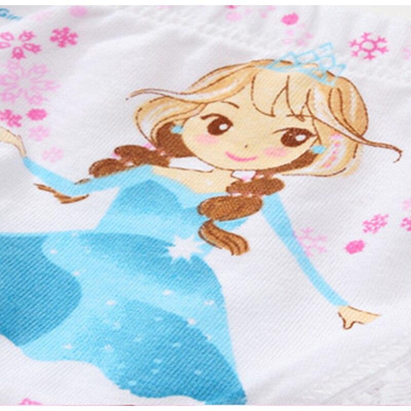 4 Pcs/lot  Children 's Underwear 100% Cotton Cartoon Triangle Underwear Girls Printed Panties Cute Princess Underwear 5