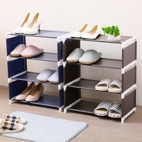 Multi function simple shoe rack household dustproof cloth shoes receive floor durable small shoe rack shoe storage organizer
