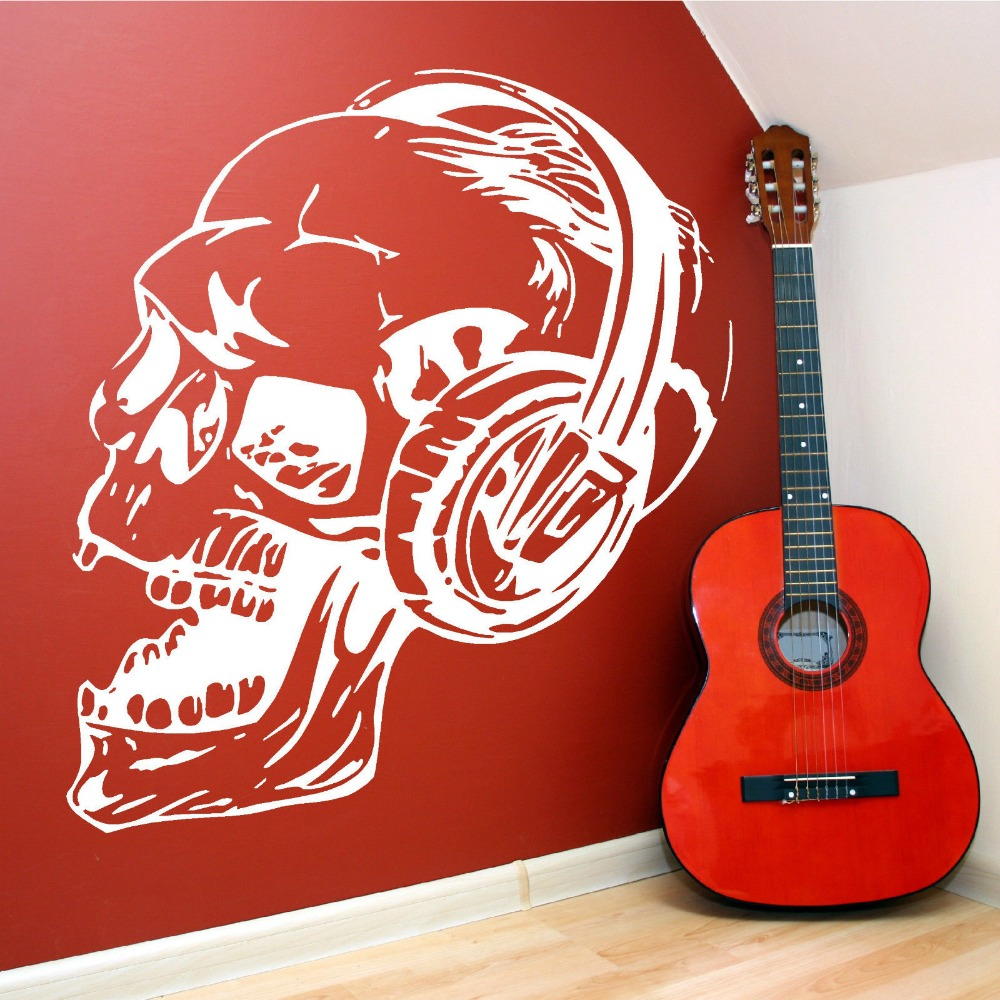 Cool Design Skull With Headphone