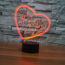 7 Color USB Heart-LOVE 3D Table Lamp Luminaria Led Night Light Touch Switch Decorative lighting Mood Lamp Valentine's Day gifts