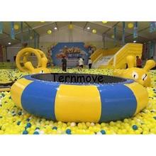 Надувные trampolin бассейна игрушки батут гимнастика, батут воды вышибала надувной батут водный парк