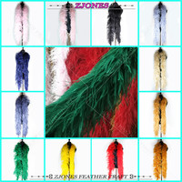 New Arrival! Thickened Ostrich Feather Boa Feather Fringe Costumes/Wedding Centerpieces/Party Carnival Dress Ornaments Christmas