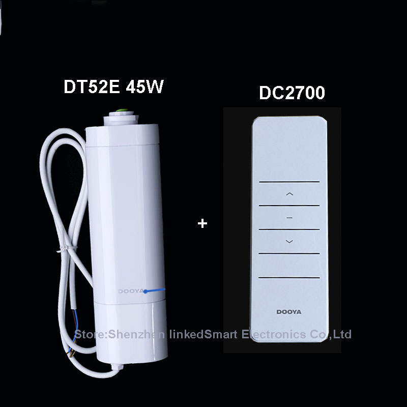 все цены на Original Electric Curtain Motor Dooya  DT52E 45W Open/Close Motor Remote Control Smart Home Automation 220V/50Hz онлайн