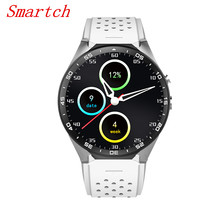 Smartch KW88 Smart watch Android 5.1 OS MTK6580 CPU 1.39 inch Screen 2.0MP camera 3G WIFI GPS smartwatch for Apple Android