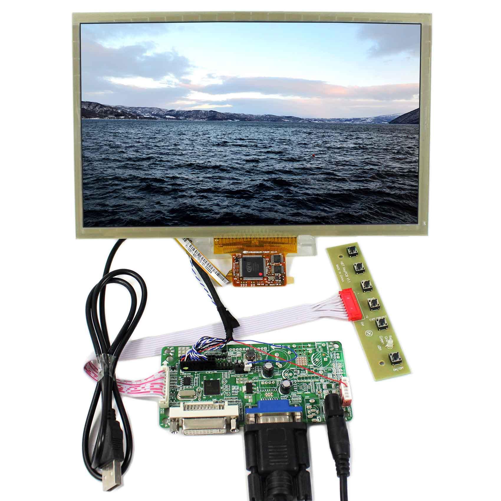DVI+VGA LCD Controller Board 10.2 HSD100IFW1 CLAA102NA0ACW 1024x600 Multi-Touch LCD PanelDVI+VGA LCD Controller Board 10.2 HSD100IFW1 CLAA102NA0ACW 1024x600 Multi-Touch LCD Panel