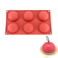 Semicircle 6 Holes 3D Silicone Molds Baking Tools For Cakes Truffle Dessert Puff