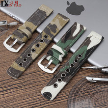 Canvas Camouflage Watch Band For Men Women Watches Belt Acce
