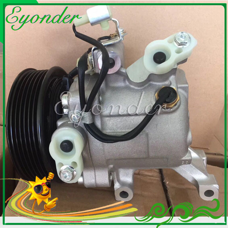 Auto AC A/C Air Conditioning Compressor Cooling Pump PV6 SV07C for Toyota Passo Rush Daihatsu Terios 447160-2270 447190-6121 high quality auto air conditioning compressor sc06e pv4 for daihatsu for car toyota terios ac compressor with clutch