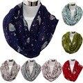 Suerte Perro Dama de La Moda Para Mujer Linda del Pájaro Imprimir Mantón de La Bufanda Bufandas Suaves de Invierno Cálido