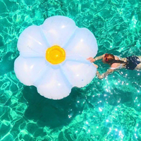 160cm Giant Glitter Daisy Luxe Lie On Float Floral 2019 Newest Swimming Ring Inflatable Tube Fun Toys Water Floats Air Mattress
