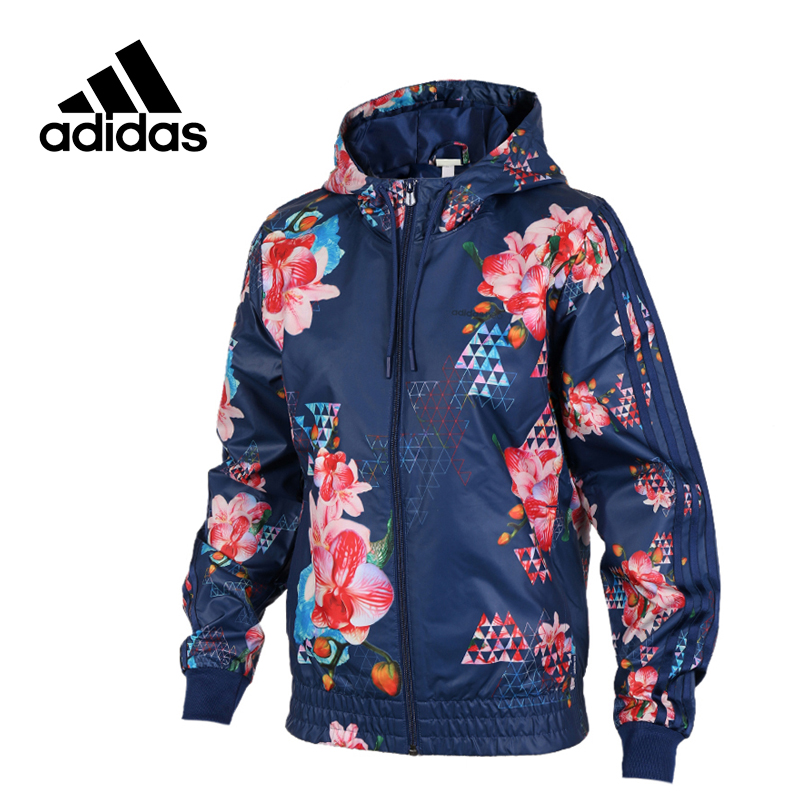 Adidas Original New Arrival Official NOE Women's Jacket Windproof Hooded Sportswear BK6865 adidas new arrival official ess 3s crew men s jacket breathable pullover sportswear bq9645