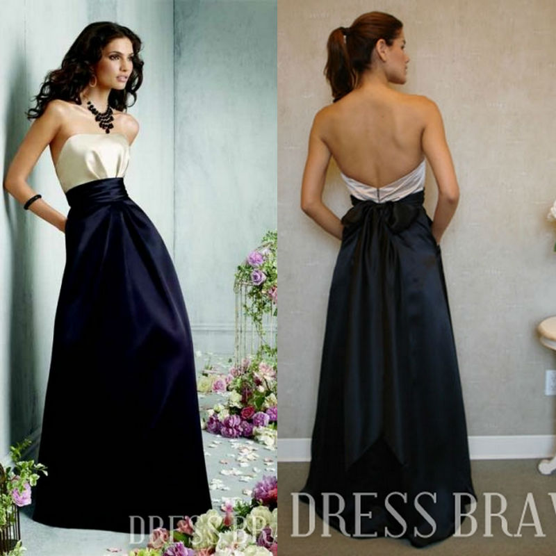Two tone colored dresses