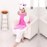Conjoined Cartoon Animal Stitch Unicorn Horse Adult Unisex Cosplay Costume Pajamas Sleepwear For Men Women FT208