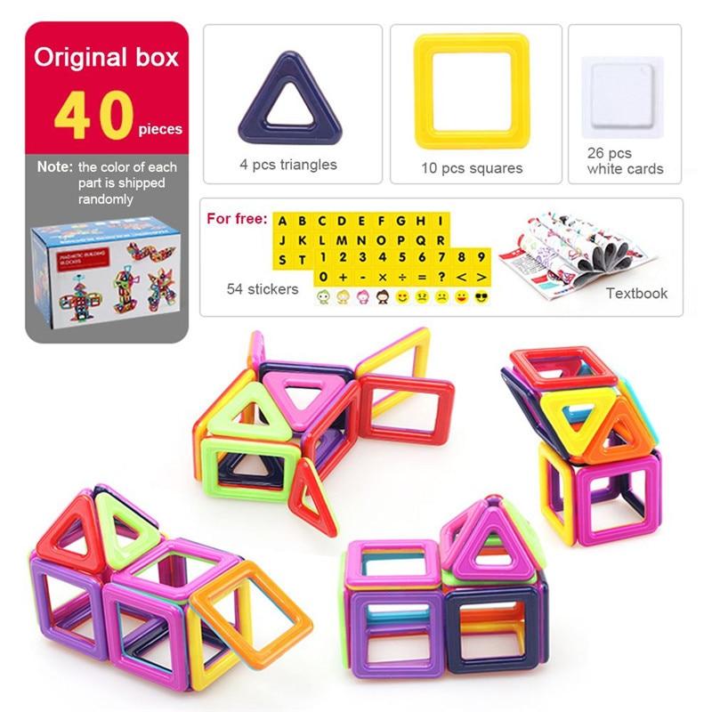 40-166pcs Mini Magnetic Designer Construction Set Model & Building Toy Plastic Magnetic Blocks Educational Toys For Kids Gift 209pcs magnetic designer construction set model preschool skills