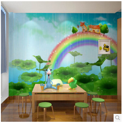 Mural childrens bedroom 3d wallpaper mural male girl childrens room 3d wallpaper cartoon murals of the rainbow in wallpapers from home improvement on