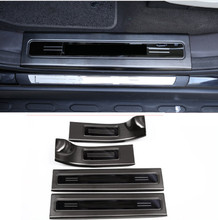 Stainless Steel Interior Scuff Plate Door Sill Guards Thresholds Cover Trim Protector For Land Rover Discovery 5 4pcs/set aluminum alloy exterior door sill scuff threshold protector plate cover trim for land rover discovery 5 lr5 2017 car styling