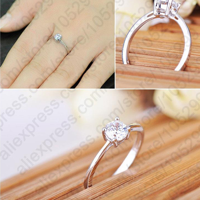 YAAMELI Big Promotion Hot Selling Super Shiny Cubic Zirconia 925 Sterling Silver Wedding Rings For Women Jewelry Wholesale Price