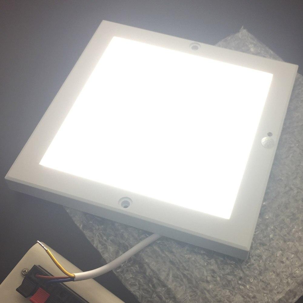 18mm THK Quadrate 22cmx22cm PIR LED Ultrathin Ceiling Panel Light Motion Detection & Light Sensor Surface Mounted Panel