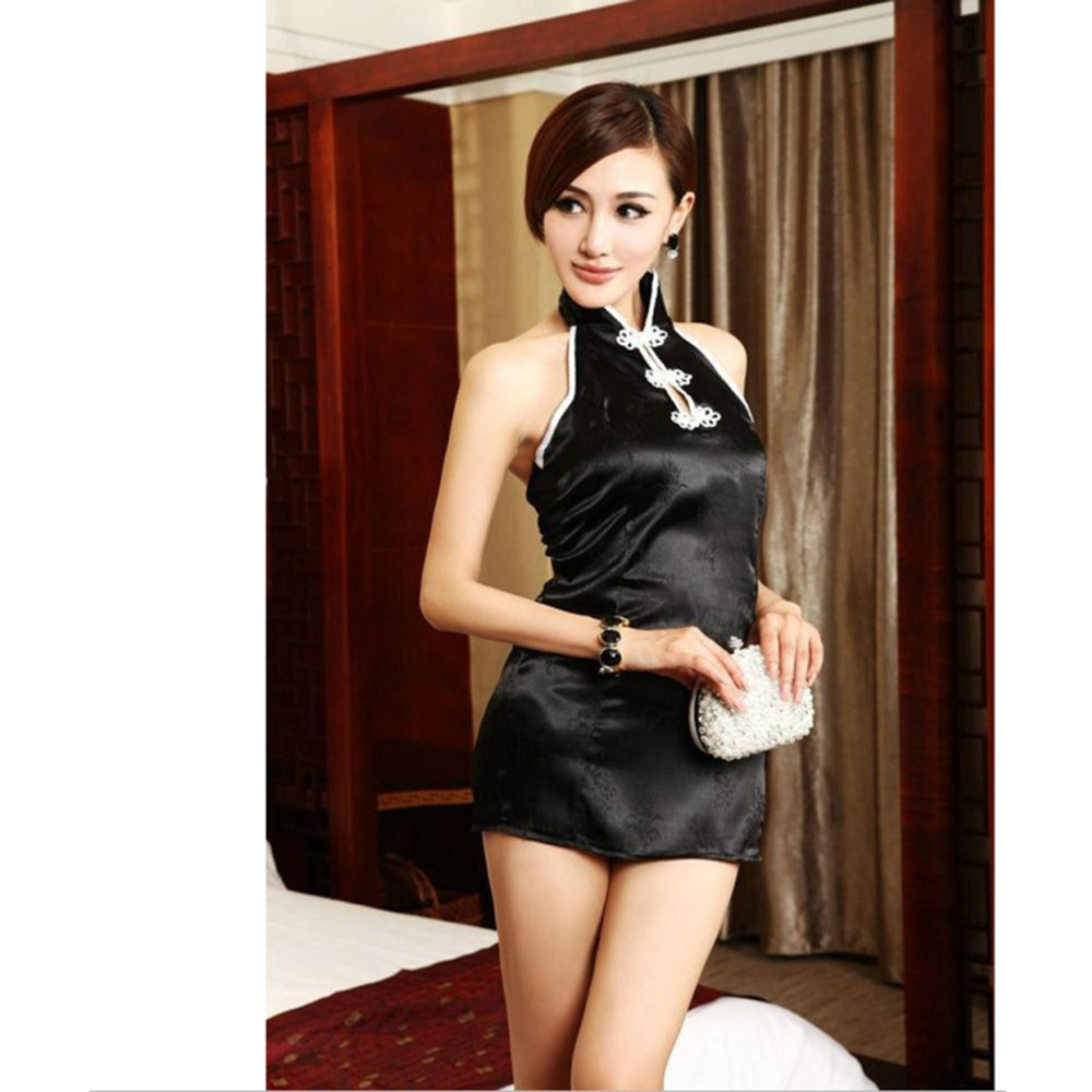 Sexy Backless Cheongsam Sex Dress-In Dresses From Womens -3772