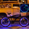 New! IP65 Bicycle Light LED Wheel Light LED Copper Wire For Bike Decoration Colorful For Cycling Waterproof Novelty Lighting