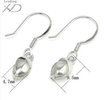 Vente en gros 5 paires de crochets d'oreille en argent Sterling 925 Genine 9.5mm.925 crochets de bijoux en argent
