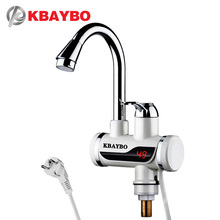 Купить с кэшбэком KBAYBO 3000W EU plug Electric Water Heater Kitchen Instant heater immersion heater Cold Hot Dual-Use