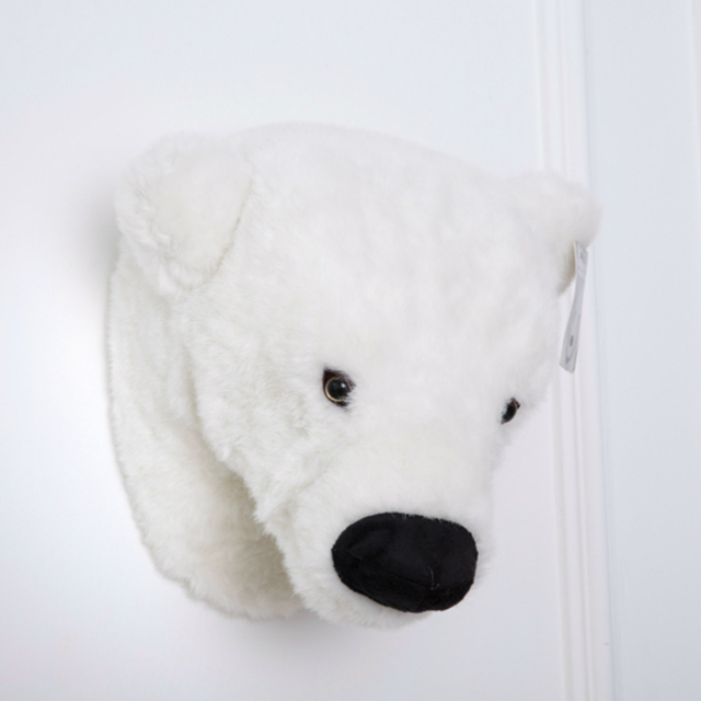 Aliexpress.com : Buy Simulation 3D Animal Polar Bear Head Stuffed ...
