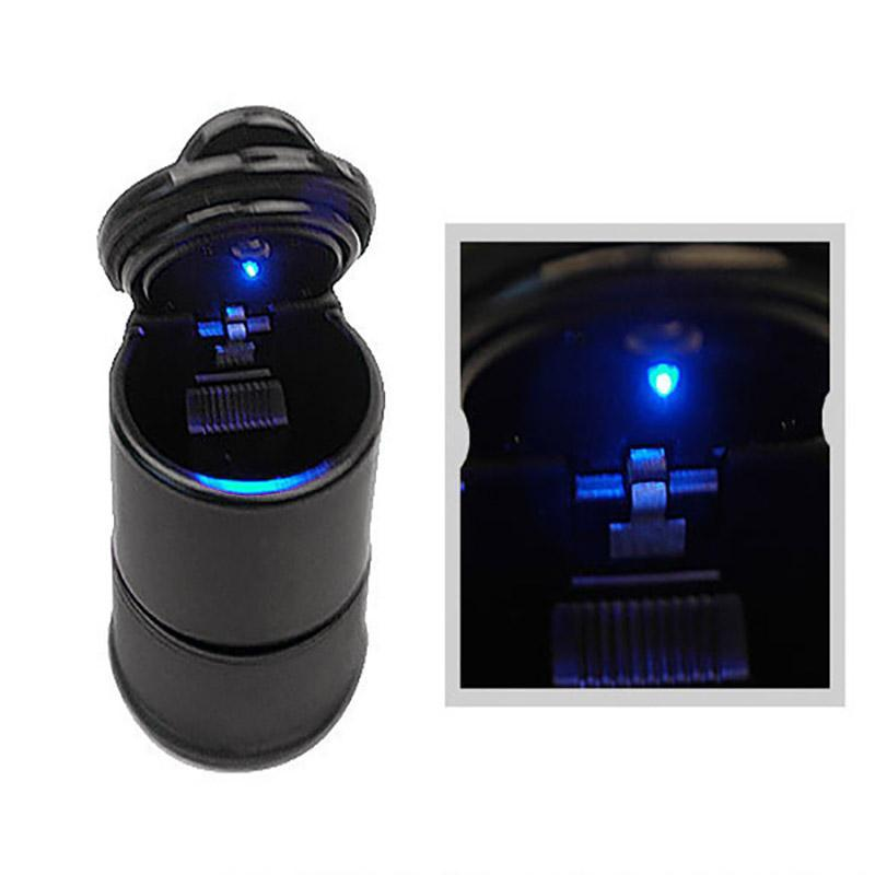 Azul Porttil Cenicero Luz LED azul para salpicadero puro encendedor de