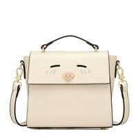 2016 Women Candy Color Handbag Vintage Fashion One Shoulder Small Bag PU Leather Bags Women Messenger