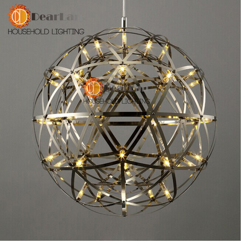 Modern Clic Fashion Stainless Steel Led Pendant Lights 45cm 60cm With Adjule Eletrical Wire Nice Decor