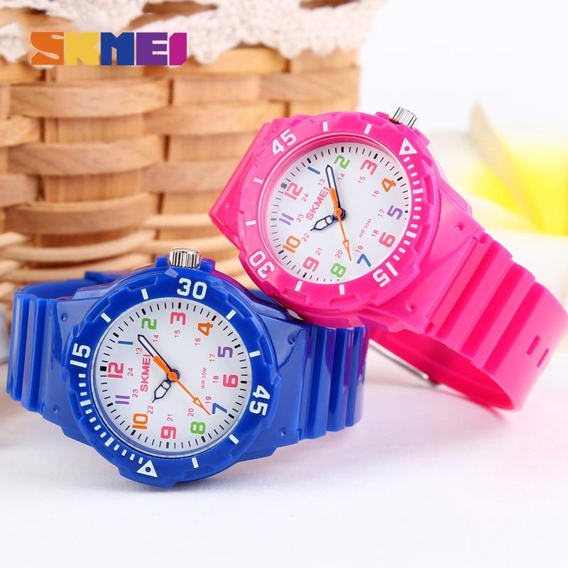 Fashion SKMEI Casual Kids часы 5bar водонепроницаемый кварцевый наручные часы Jelly Kids часы дети часы Montre Enfant 1043