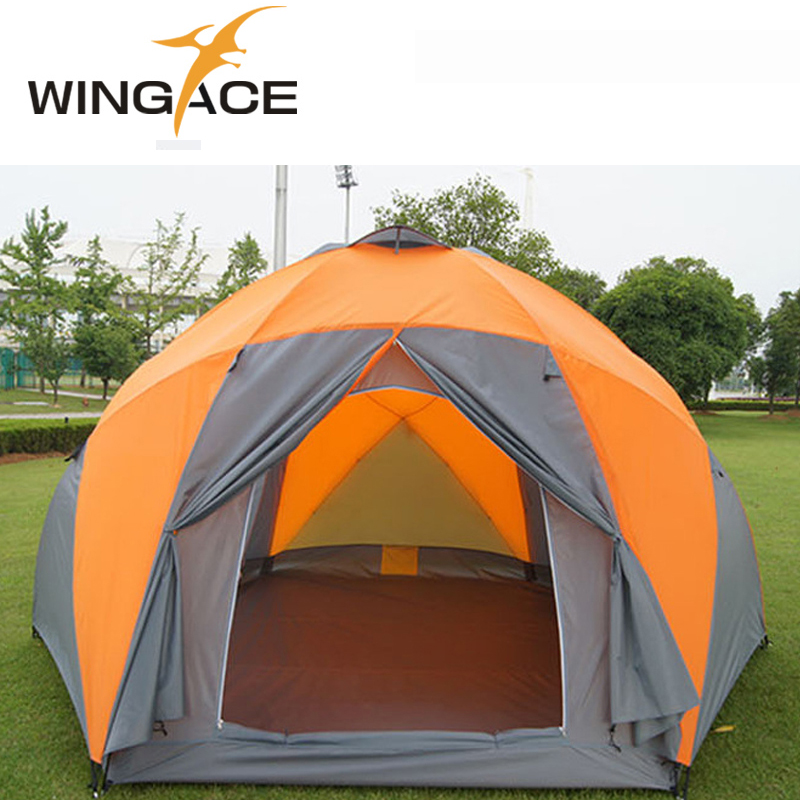 Outdoor Tourist Tents Weatherproof Large Camping Tent For Family Holiday 8-10 Person Camping Tent Double Layer Yurt