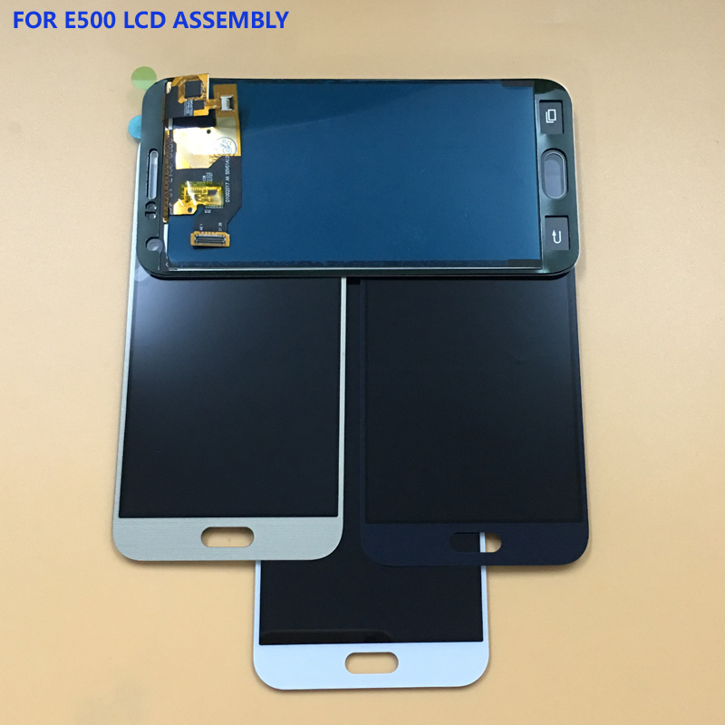 3 Color For Samsung Galaxy E5 E500 E500F E500H E500M Touch Screen Digitizer Sensor Glass Panel + LCD Display Monitor Assembly