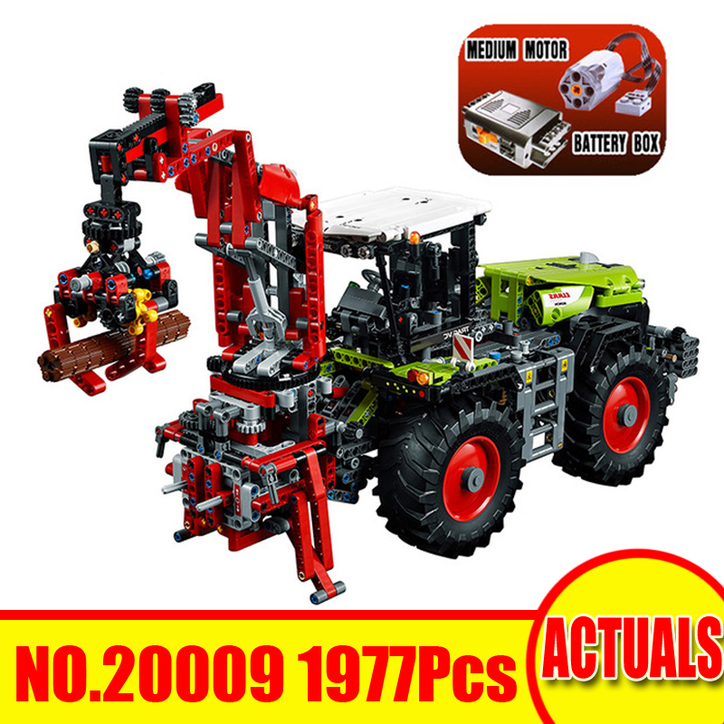 1977Pcs 20009 Lepin Technic Figures Claas Xerion 5000 Trance VC Model Kit Building Blocks Bricks Sets Toys Compatible With 42054