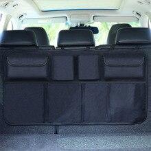 1 шт. многоцелевой большее пространство заднем сиденье автомобиля багажник Организатор висит груз сумка Авто хранения уборки автомобиль-Стайлинг для Vans, внедорожники
