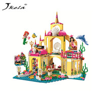 Jkela Princess Underwater Palace Girl Legoings Building Blocks Building Blocks Toys Children Christmas For Children