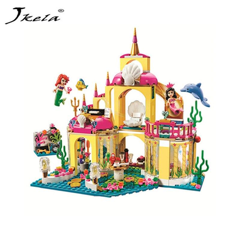 [Jkela] Prinzessin Unterwasser Palast Mädchen Legoings Bausteine Bausteine Spielzeug Kinder Weihnachten für Kinder Bricks