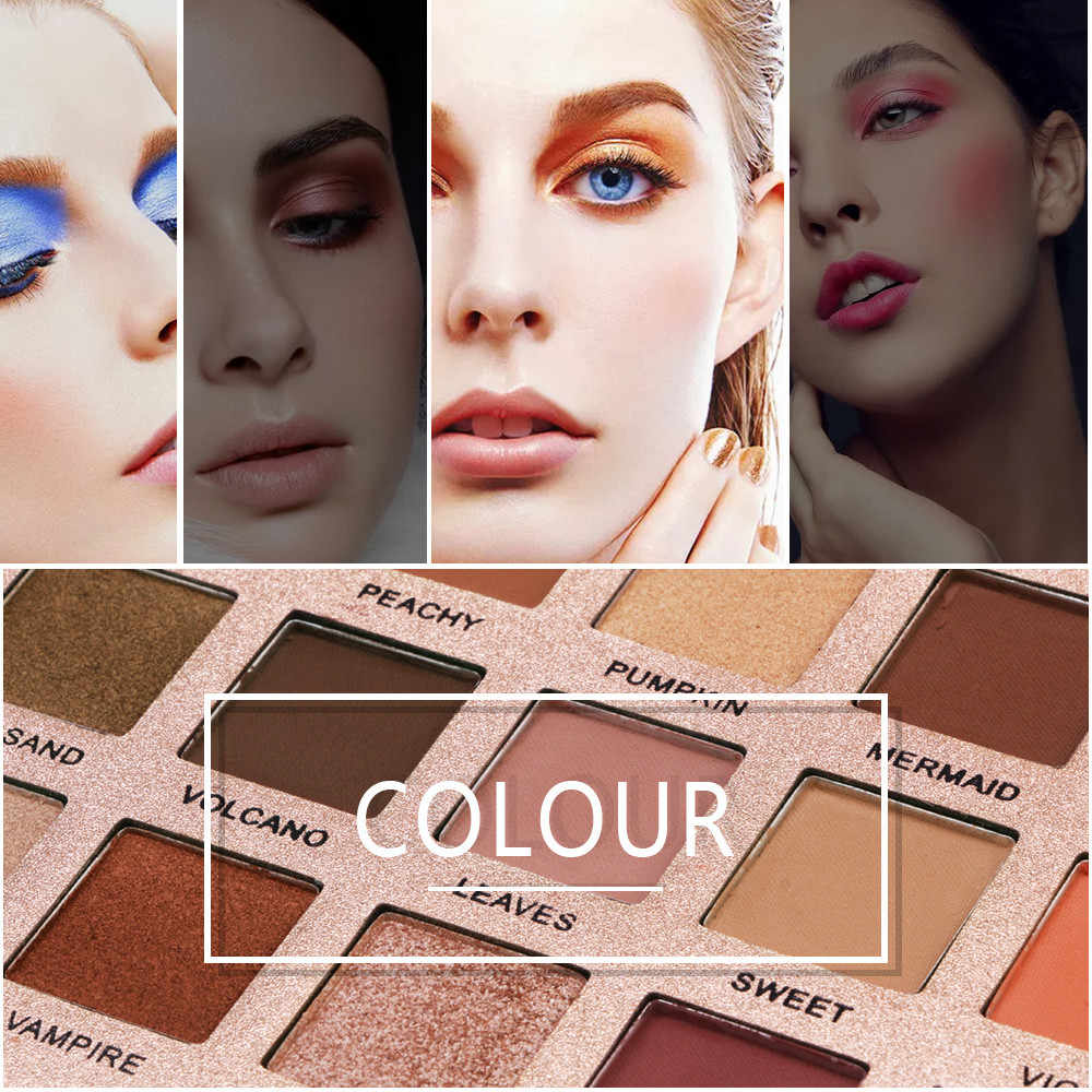 18 色シマーグリッターアイシャドーパウダーマットアイシャドウ化粧品 brochas maquillaje プロフェッショナル pinceaux マキアージュ # ZF