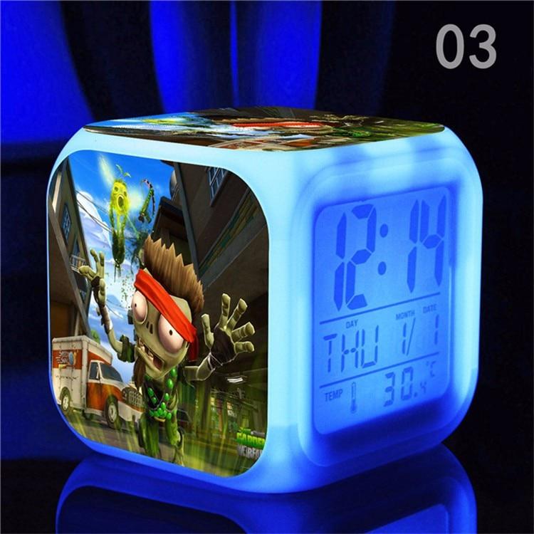 Hot Game Plants Vs Zombies Alarm Clock, 3D Cartoon PVZ Led Alarm - Үйдің декоры - фото 4