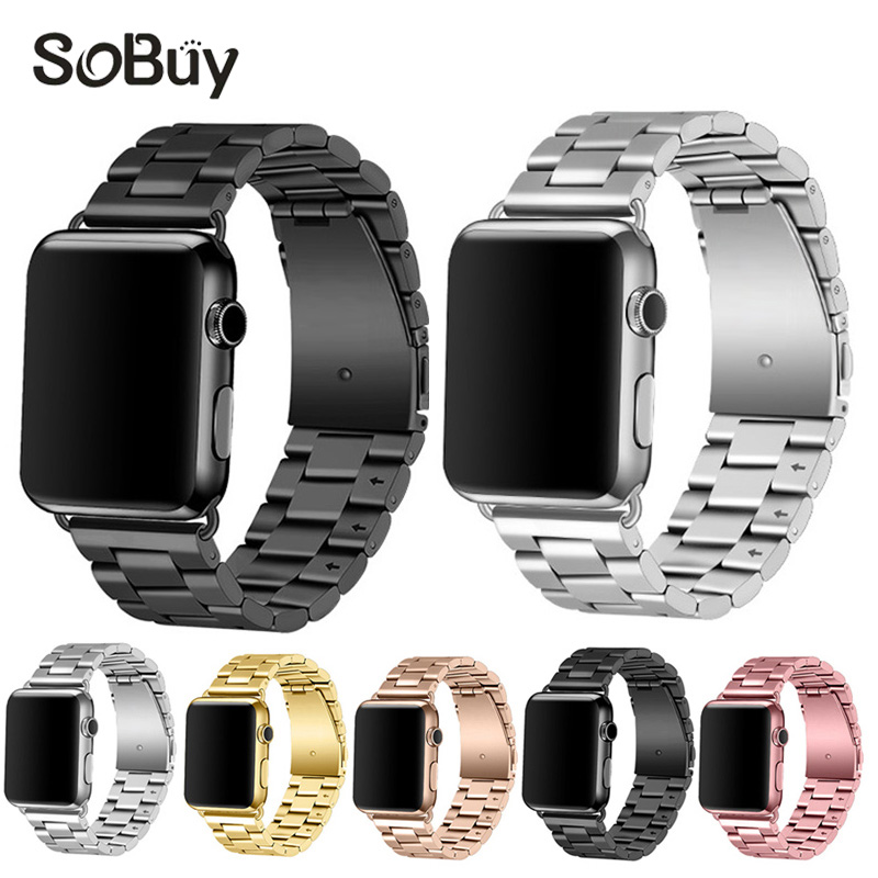 IDG Fashion Classic Stainless Steel Watch Strap 42mm 38mm For Apple Watch iWatch 42mm Business Men Replacement Strap Watchband fashion metal stainless steel mesh watch strap for apple watch iwatch wristwatch strap black silver 38mm 42mm replacement