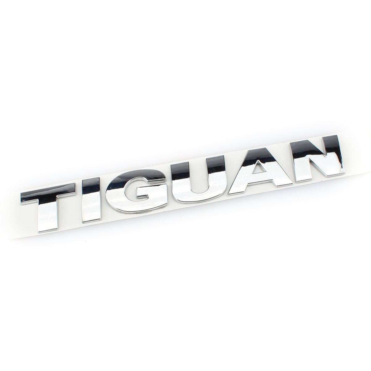 OEM Argent Chrome Arrière Tronc Couvercle Badge Sticker Autocollant TIGUAN pour VW Emblème Nouveau