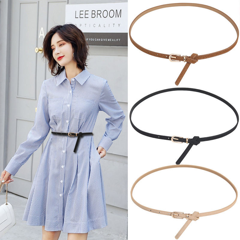 Women Dress   Fashion Buckle Waist Casual Shape Belt Faux Leather Belts Candy Color Thin Skinny Waistband Adjustable Belt