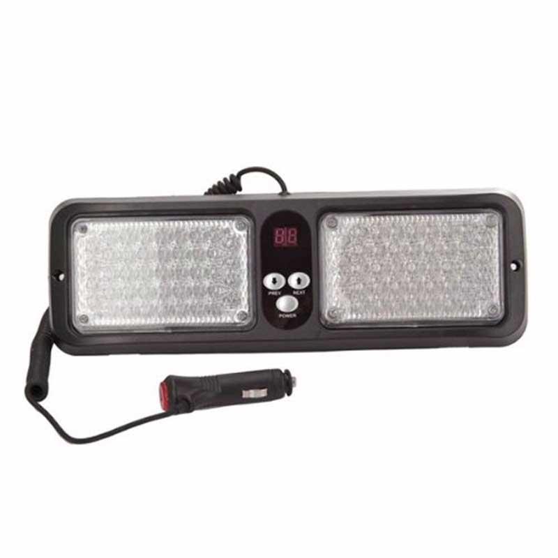 Auto Warning LED 86 LED Car Emergency Visor Strobe Flashing Lights Lamp   86LED Flash Light Blue Red Free Shipping