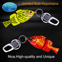 Free Shipping Fishing Lure Swim Bait Jointed Bait Keychains Beautiful Ornaments Fishing Tackle Gadget
